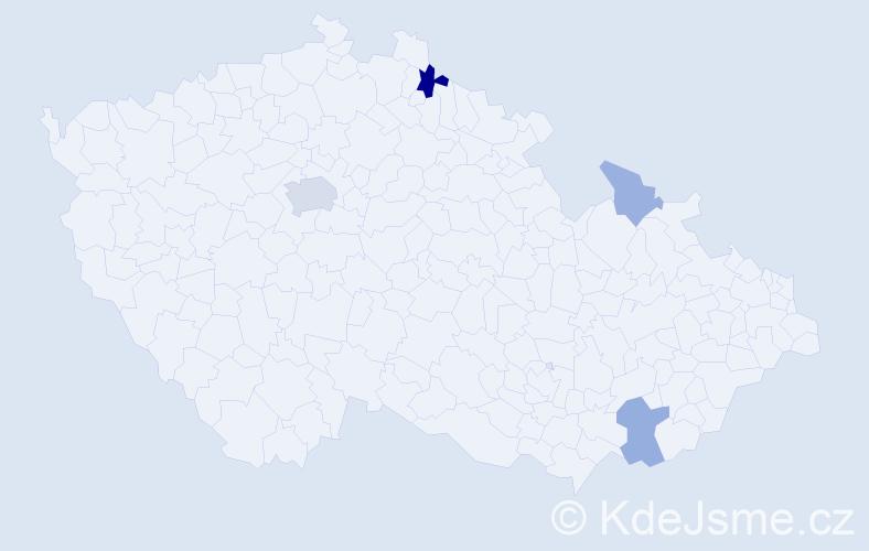 Příjmení: 'Galliová', počet výskytů 12 v celé ČR