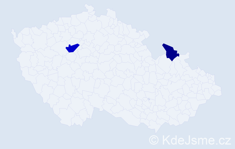Příjmení: 'Illiaš', počet výskytů 3 v celé ČR