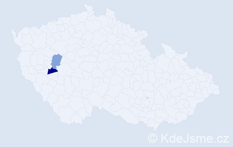 Příjmení: 'Kiszczuk', počet výskytů 2 v celé ČR