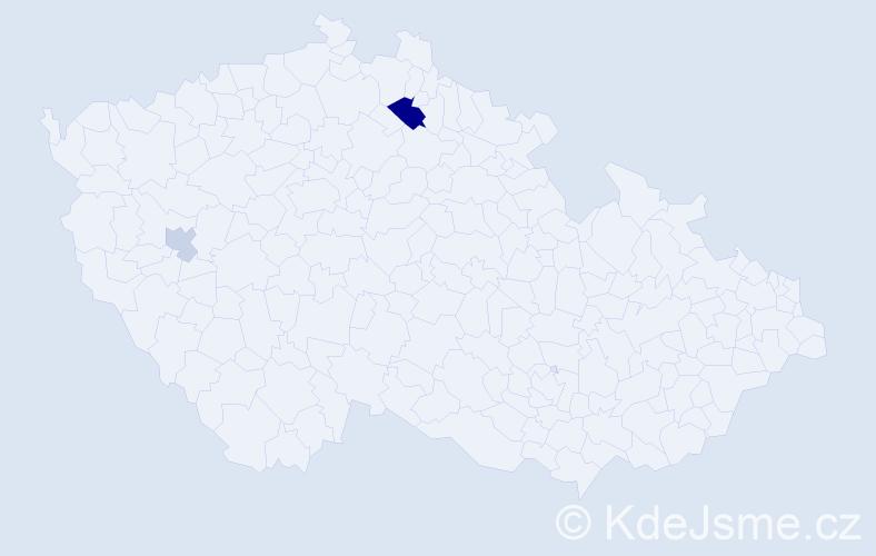 Příjmení: 'Drahun', počet výskytů 4 v celé ČR