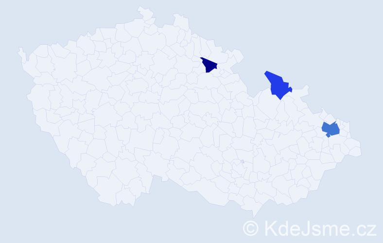 Příjmení: 'Kunath', počet výskytů 6 v celé ČR