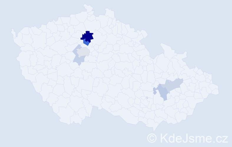 Příjmení: 'Andraščík', počet výskytů 13 v celé ČR