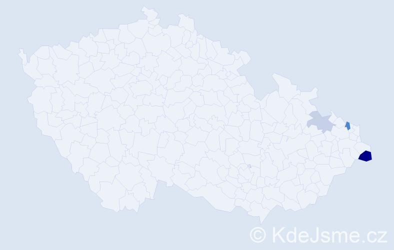 Příjmení: 'Dworzak', počet výskytů 6 v celé ČR