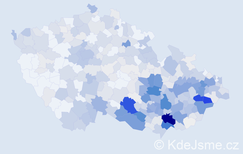 Příjmení: 'Dobeš', počet výskytů 1924 v celé ČR