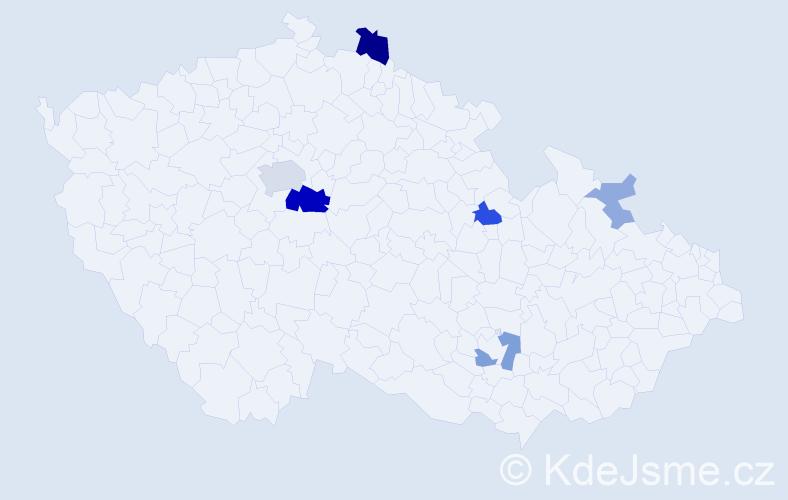 Příjmení: 'Folke', počet výskytů 18 v celé ČR
