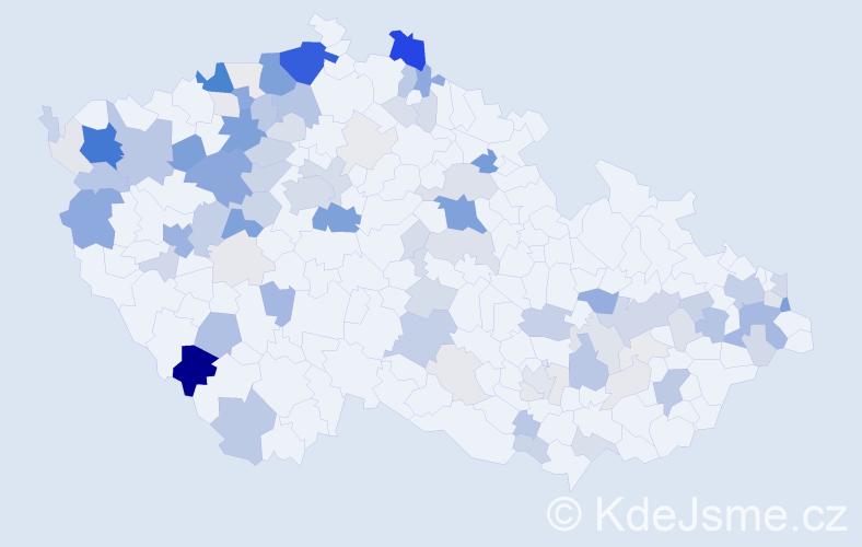Příjmení: 'Hanko', počet výskytů 360 v celé ČR