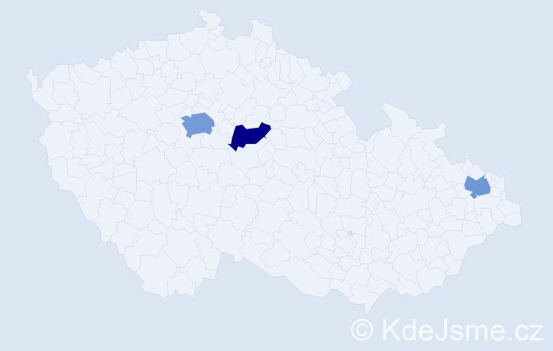 Příjmení: 'Fislová', počet výskytů 5 v celé ČR