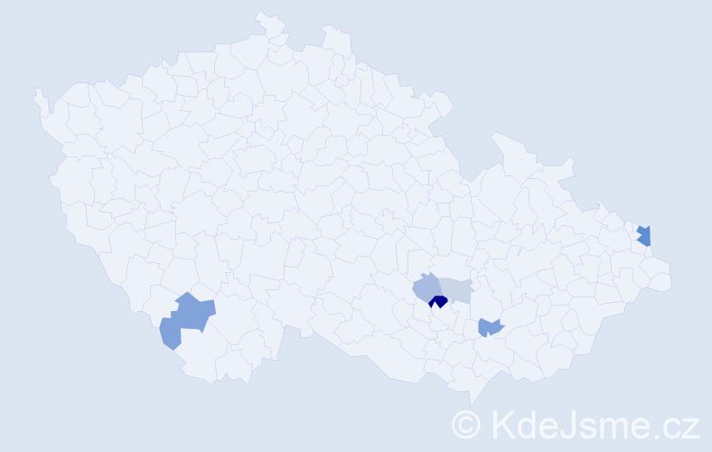 Příjmení: 'Celbr', počet výskytů 17 v celé ČR