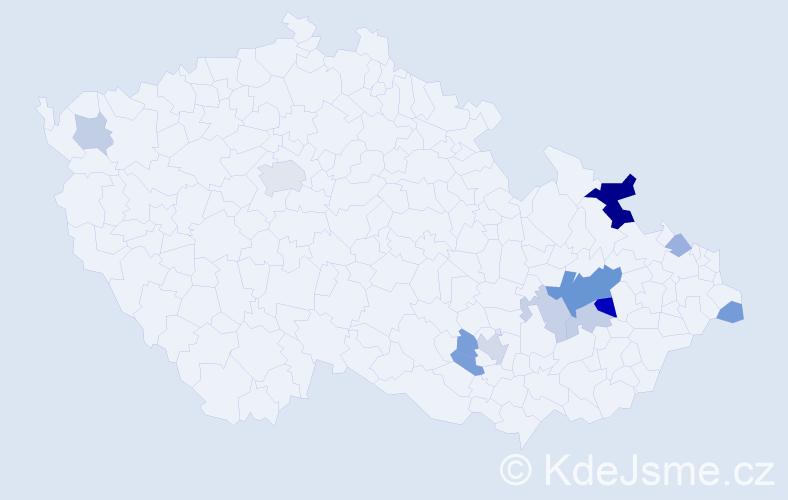 Příjmení: 'Avratová', počet výskytů 26 v celé ČR