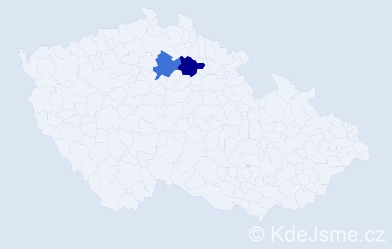 Příjmení: 'Červoňáková', počet výskytů 4 v celé ČR