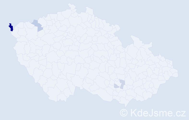 Příjmení: 'Čičmanská', počet výskytů 6 v celé ČR