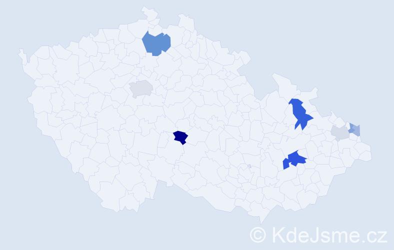 Příjmení: 'Joslová', počet výskytů 31 v celé ČR