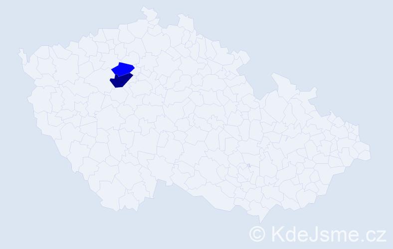 Příjmení: 'Landvojtovičová', počet výskytů 4 v celé ČR