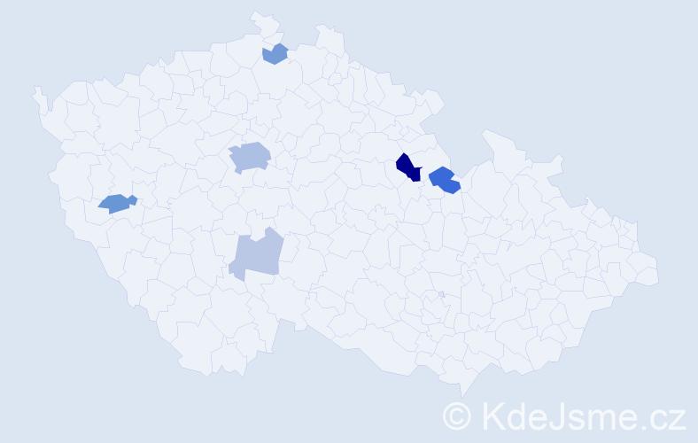 Příjmení: 'Fallada', počet výskytů 19 v celé ČR