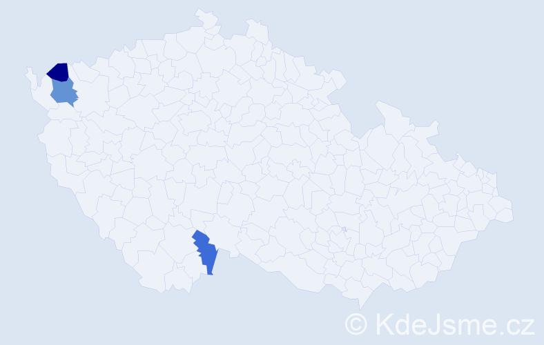 Příjmení: 'Graser', počet výskytů 4 v celé ČR