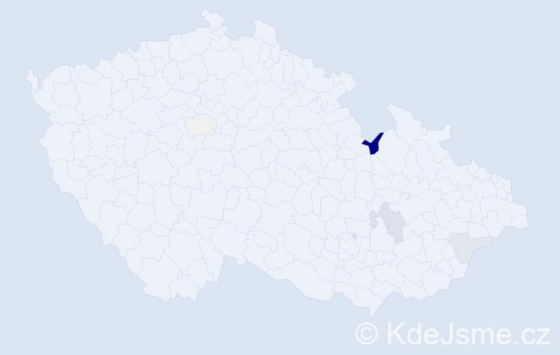 Příjmení: 'Illichman', počet výskytů 9 v celé ČR