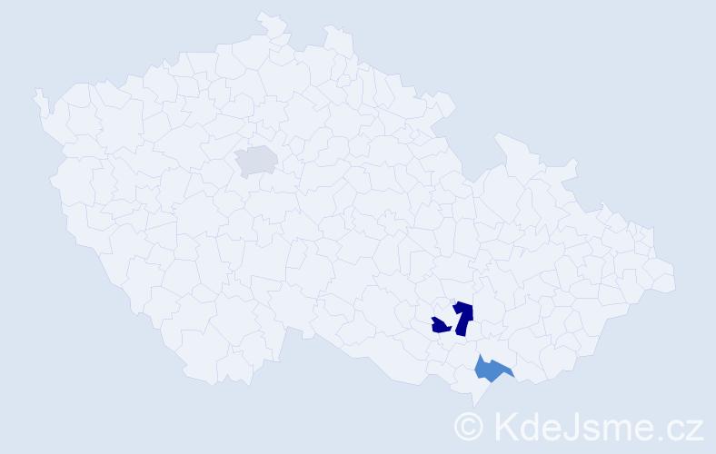 Příjmení: 'Engelhardtová', počet výskytů 4 v celé ČR