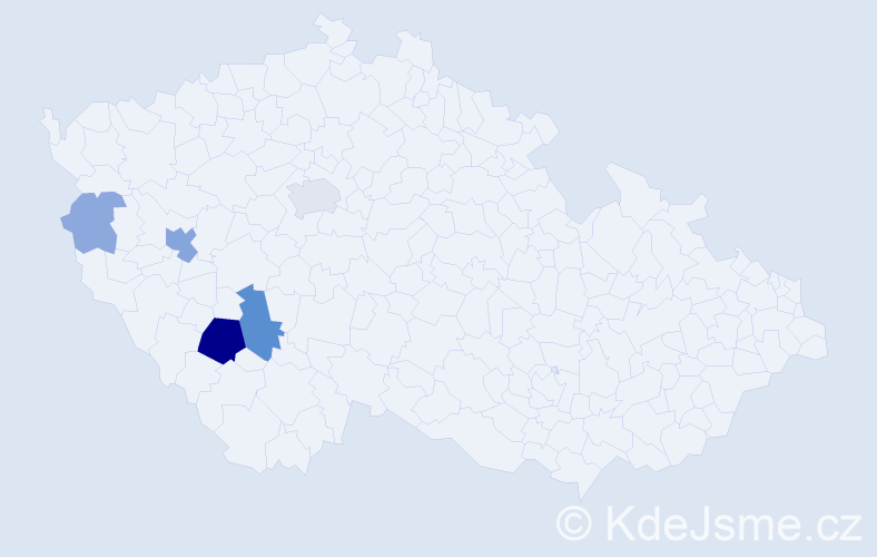 Příjmení: 'Biněda', počet výskytů 17 v celé ČR