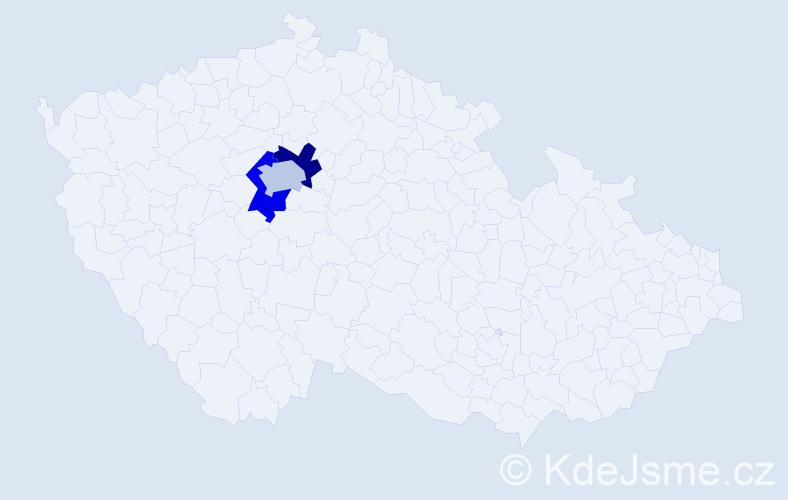 Příjmení: 'Kahofer', počet výskytů 3 v celé ČR