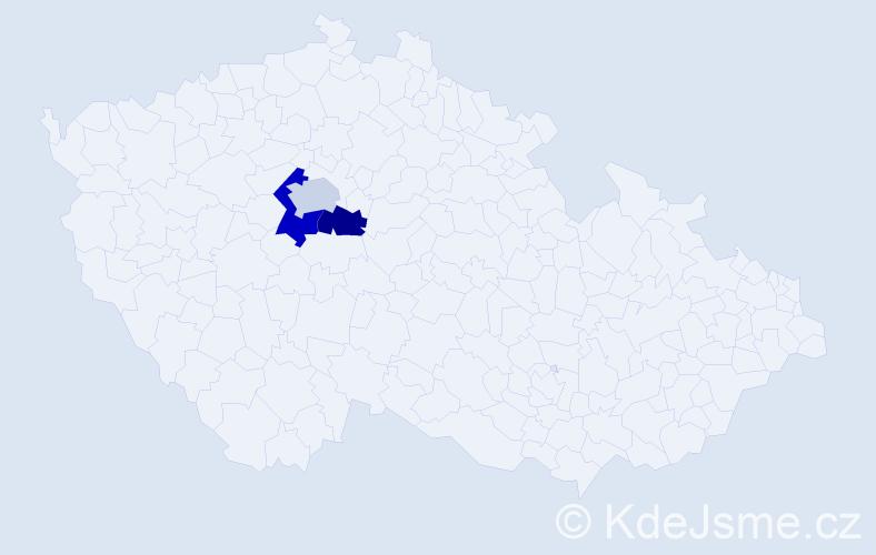 Příjmení: 'Císařík', počet výskytů 7 v celé ČR