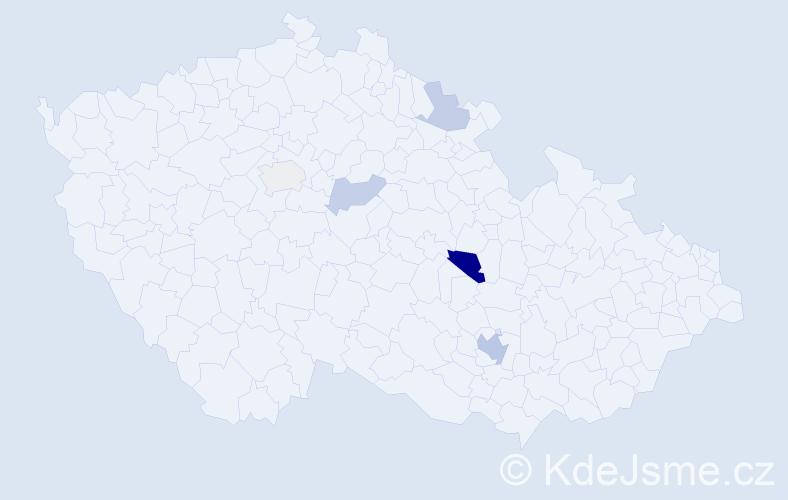 Příjmení: 'Ivanovski', počet výskytů 10 v celé ČR