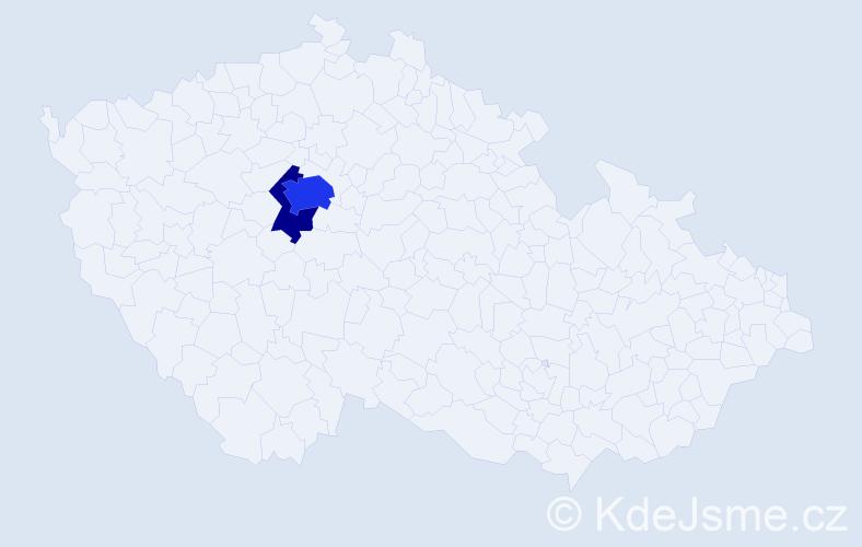 Příjmení: 'Kiliánek', počet výskytů 6 v celé ČR