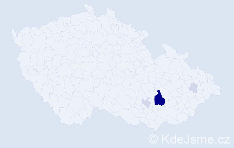 Příjmení: 'Babyrádová', počet výskytů 22 v celé ČR