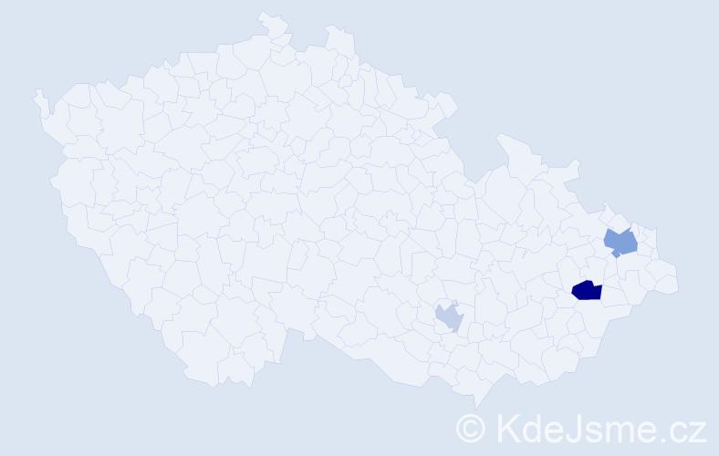 Příjmení: 'Čaputa', počet výskytů 11 v celé ČR