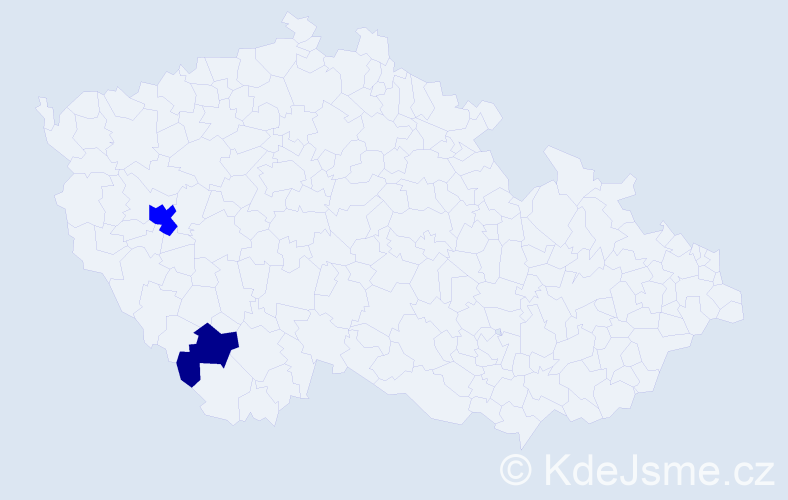 Příjmení: 'Horzov', počet výskytů 4 v celé ČR