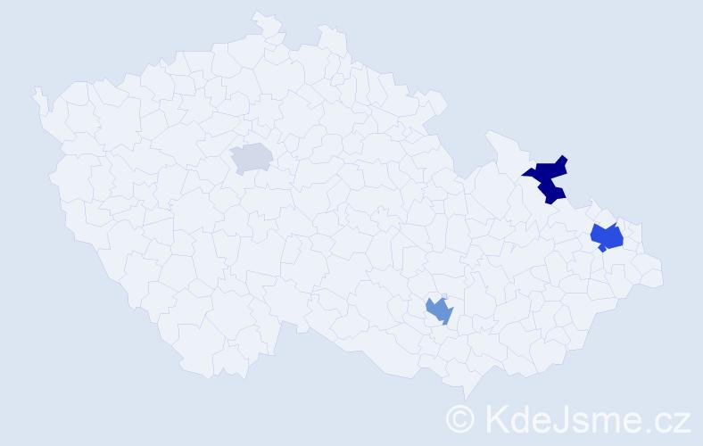 Příjmení: 'Bachrach', počet výskytů 7 v celé ČR