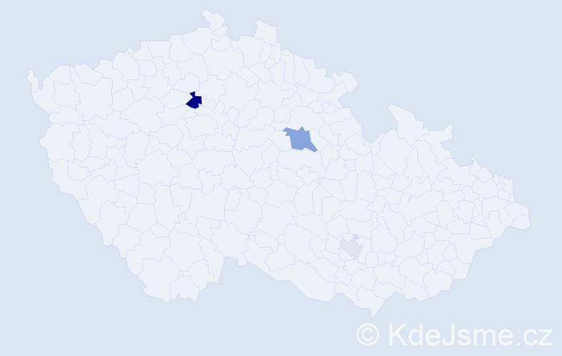 Příjmení: 'Badaljan', počet výskytů 8 v celé ČR