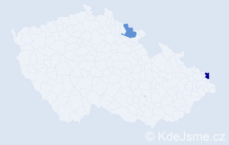 Příjmení: 'Bojarský', počet výskytů 11 v celé ČR