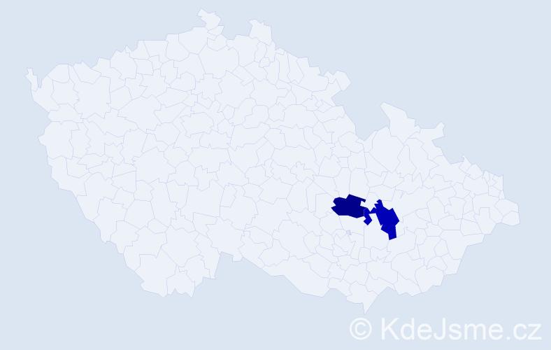 Příjmení: 'Klemscheová', počet výskytů 5 v celé ČR