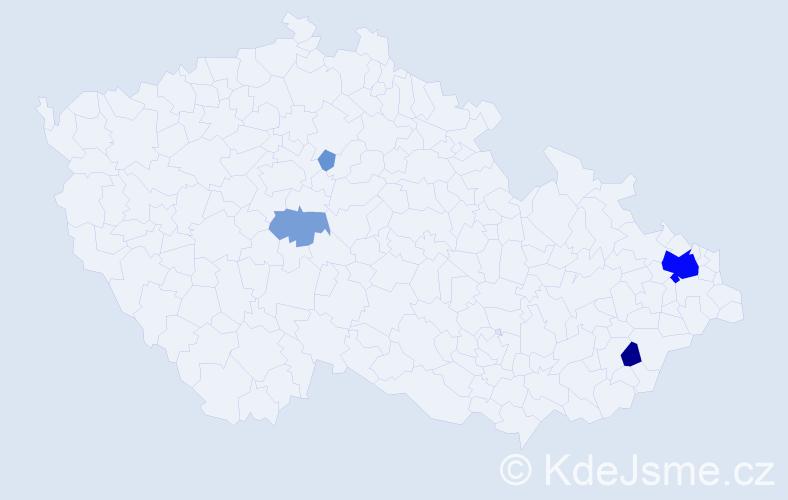 Příjmení: 'Kašovská', počet výskytů 24 v celé ČR