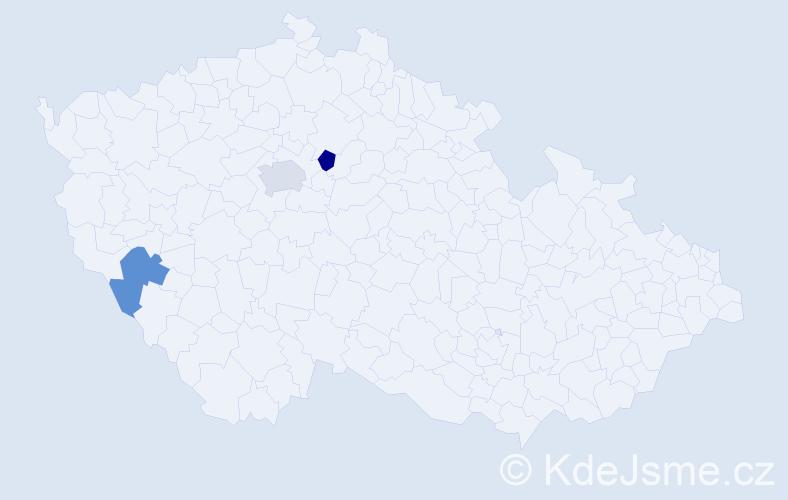 Příjmení: 'Lažánková', počet výskytů 7 v celé ČR