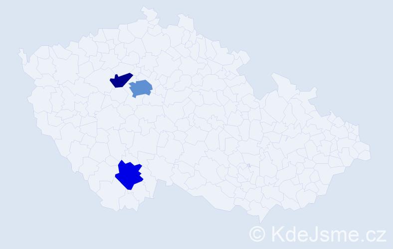 Příjmení: 'Eiderna', počet výskytů 5 v celé ČR