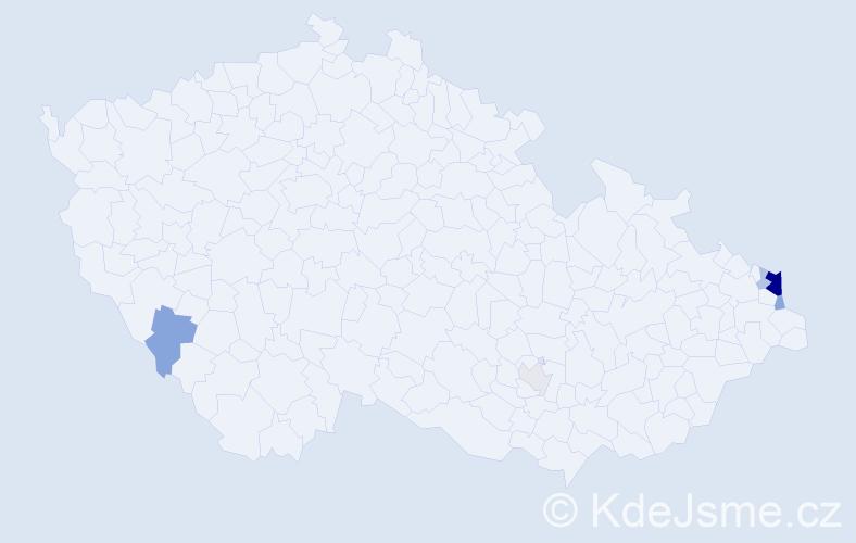 Příjmení: 'Cyřík', počet výskytů 16 v celé ČR