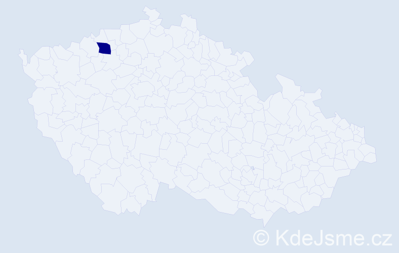"""Příjmení: '""""Gerner Šindelovský""""', počet výskytů 1 v celé ČR"""
