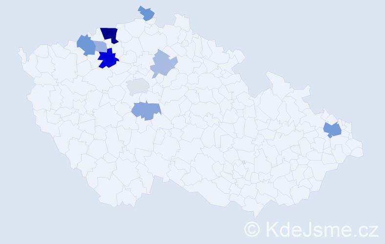 Příjmení: 'Banik', počet výskytů 23 v celé ČR