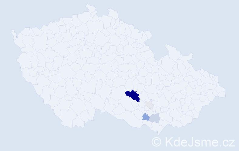 Příjmení: 'Geisselreiterová', počet výskytů 17 v celé ČR