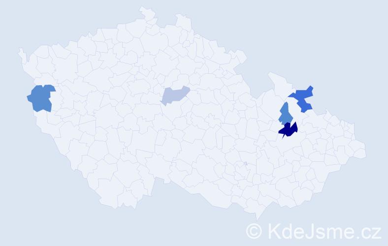 Příjmení: 'Bezděda', počet výskytů 10 v celé ČR