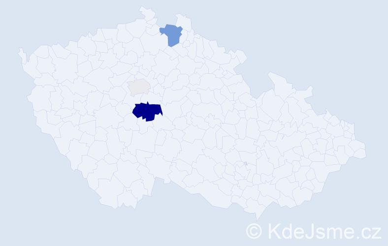 Příjmení: 'Cimmermanová', počet výskytů 9 v celé ČR