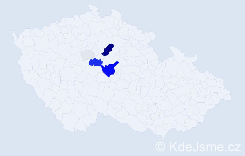 Příjmení: 'Čovbanová', počet výskytů 7 v celé ČR