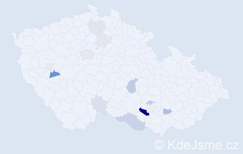 Příjmení: 'Laciný', počet výskytů 32 v celé ČR