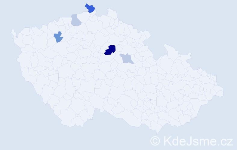 Příjmení: 'Englic', počet výskytů 8 v celé ČR
