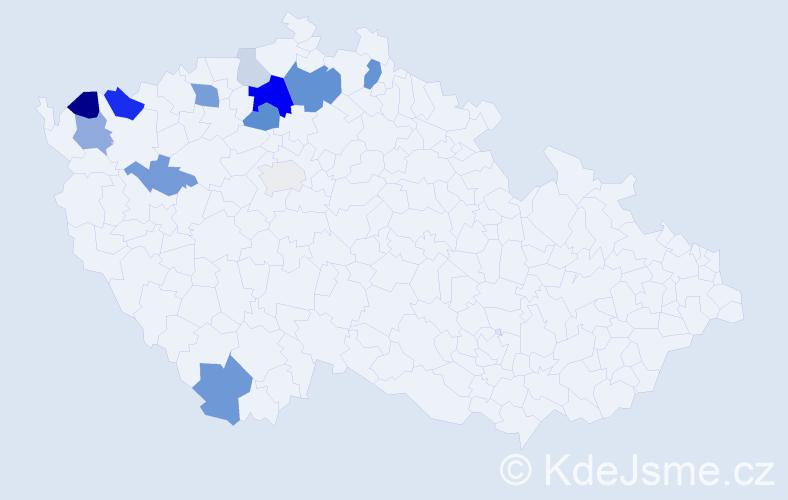 Příjmení: 'Iser', počet výskytů 31 v celé ČR