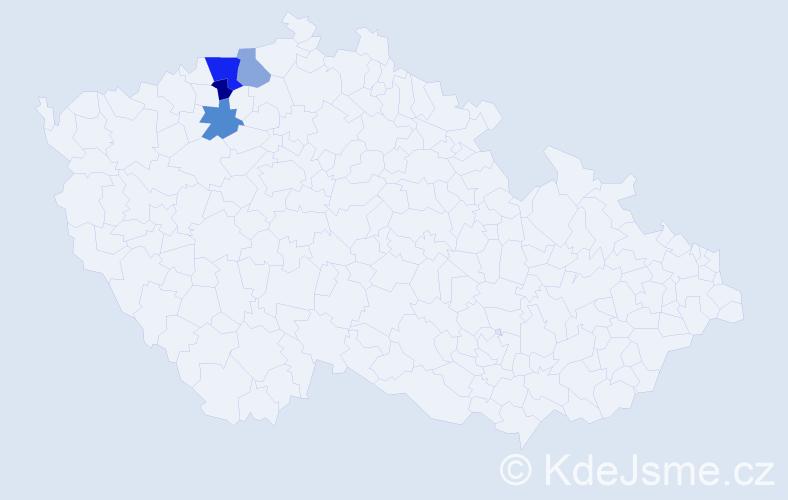 Příjmení: 'Kopelčuk', počet výskytů 6 v celé ČR