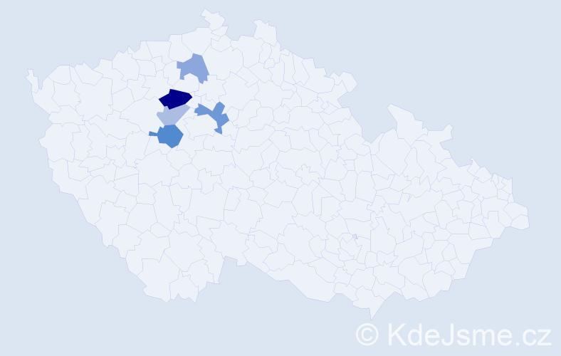 Příjmení: 'Laurych', počet výskytů 9 v celé ČR
