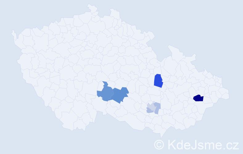 Příjmení: 'Haiker', počet výskytů 16 v celé ČR