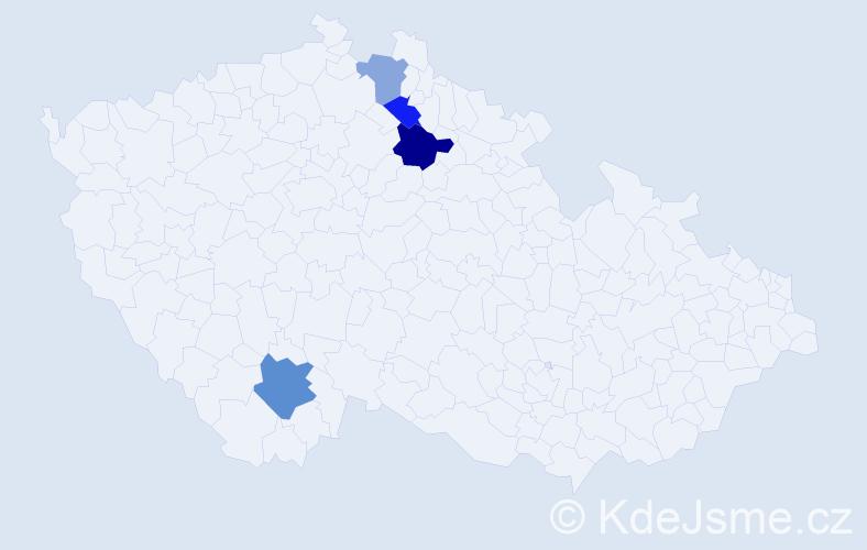 Příjmení: 'Lechovský', počet výskytů 6 v celé ČR